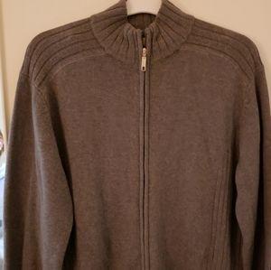 Perry ELLIS zipper Cardigan Large Cotton mens